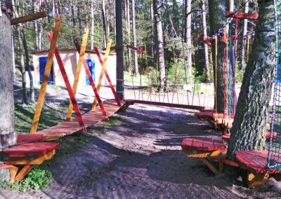 Mini park linowy w Pile